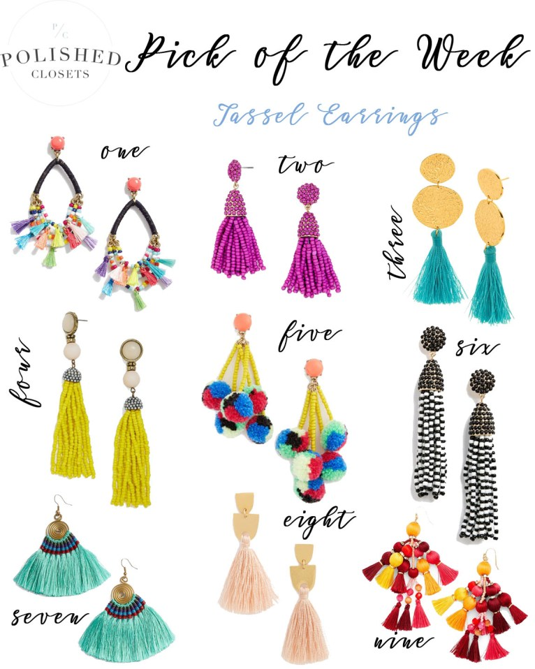 Pick of the Week: 9 Choice Pairs of Tassel Earrings by Polished Closets
