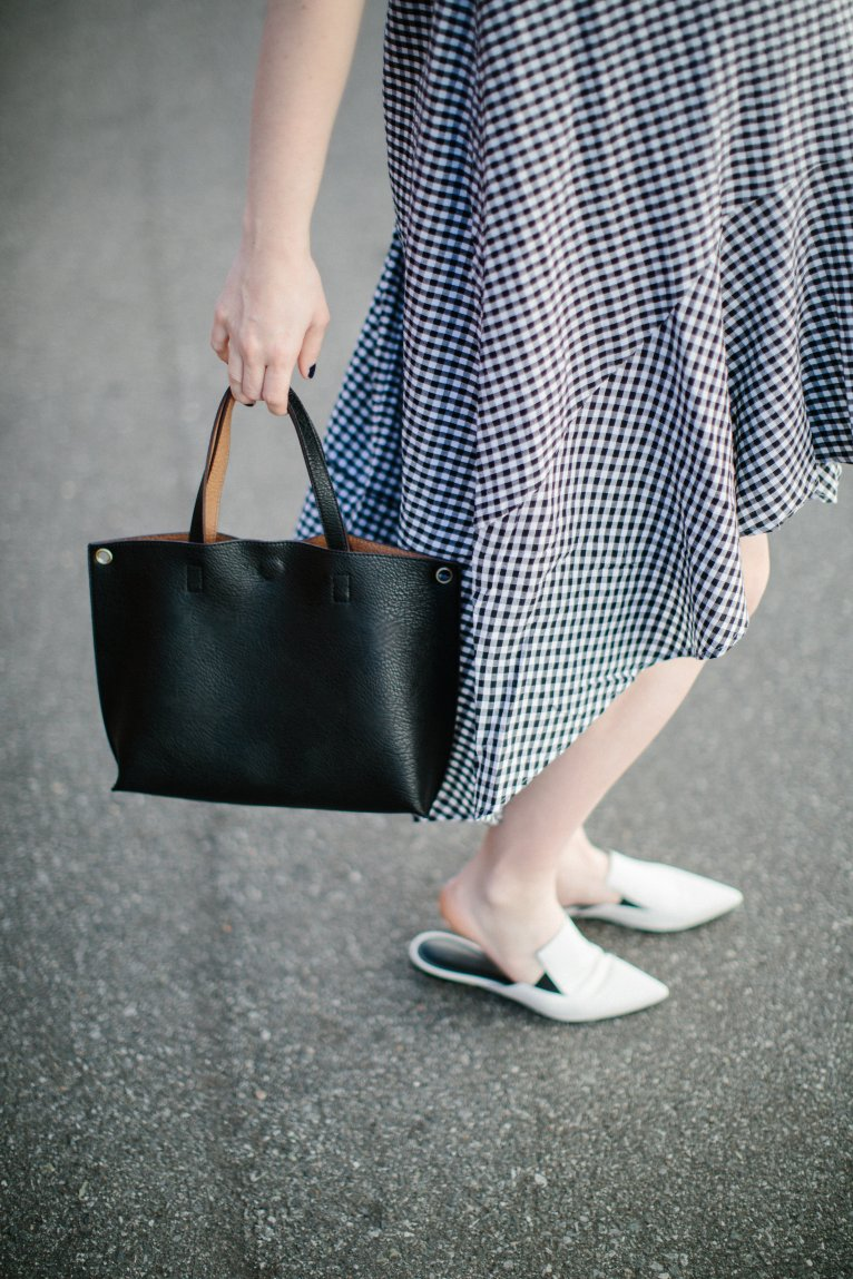 Gingham Maxi Dress by fashion blogger Maggie from Polished Closets