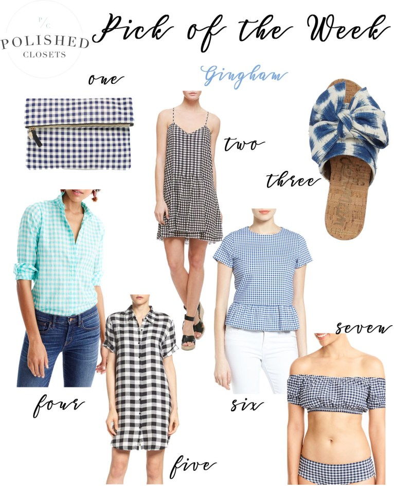 Pick of the Week: The Classic Gingham Fabric by fashion blogger Maggie from Polished Closets