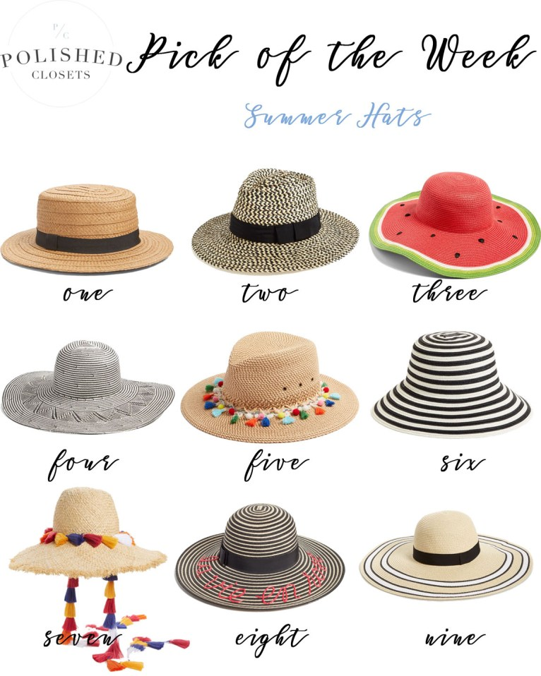 Pick of the Week: Summer Sun Hats by fashion blogger Maggie of Polished Closets