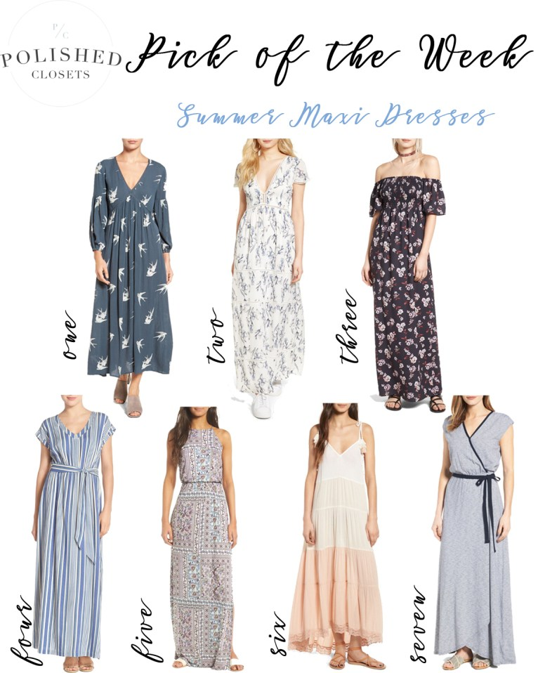 Pick of the Week: Summer Maxi Dresses by fashion blogger Maggie of Polished Closets