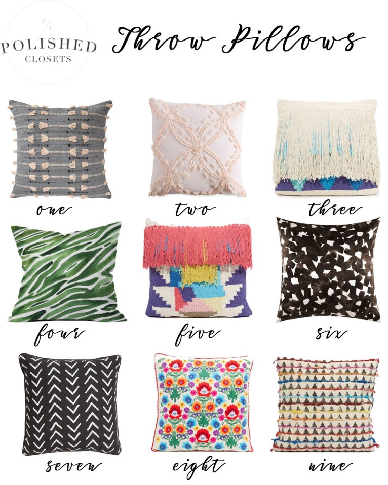 Cute Throw Pillows by lifestyle blogger Maggie of Polished Closets