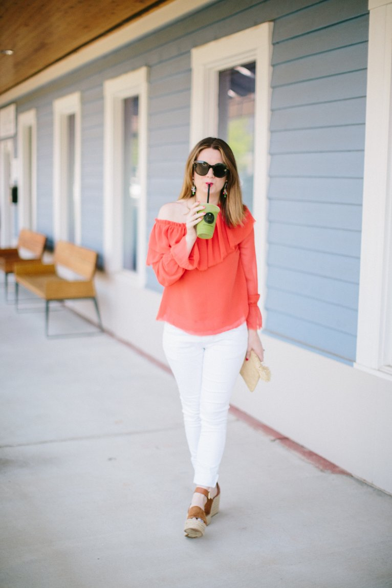 One Shoulder Top & Dressing Your Post-Baby Body by fashion blogger Maggie of Polished Closets