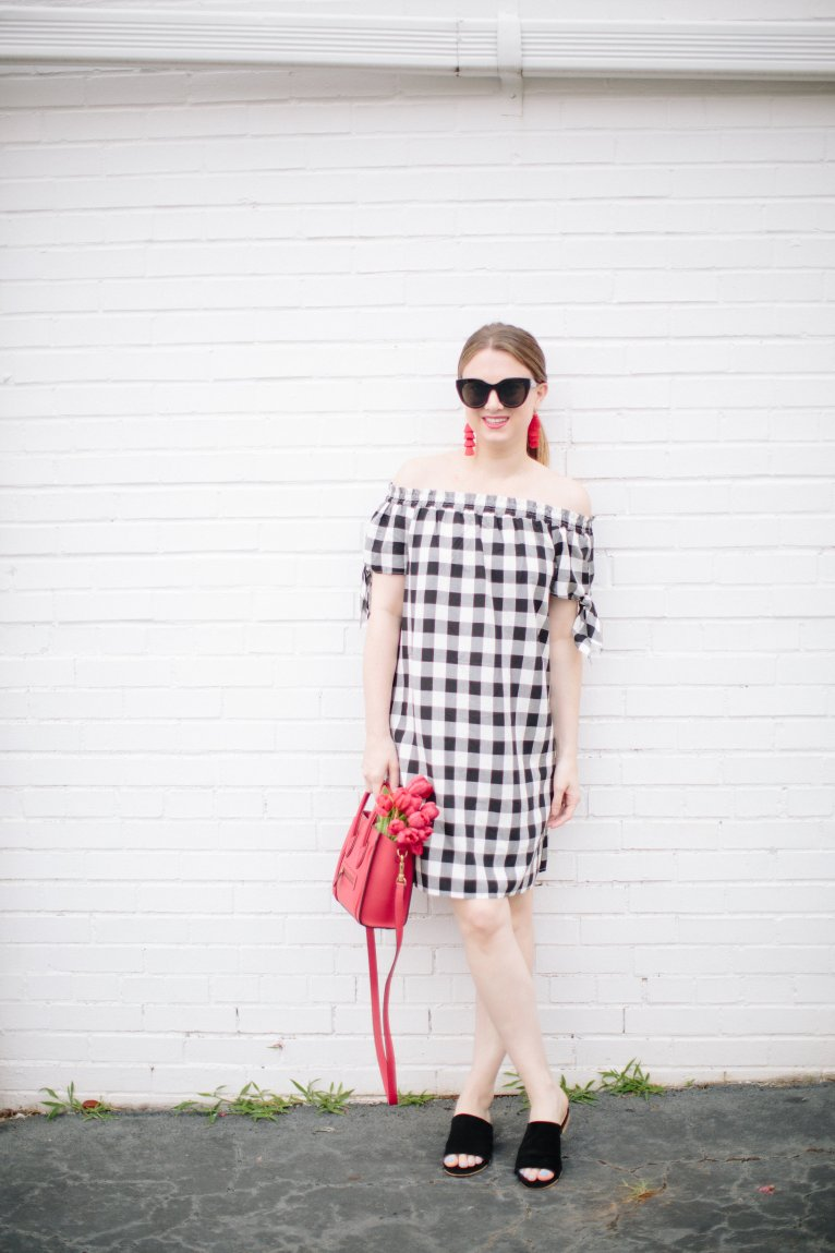 A cute and casual gingham dress for summer by Fashion Blogger Maggie Kern of Polished Closets