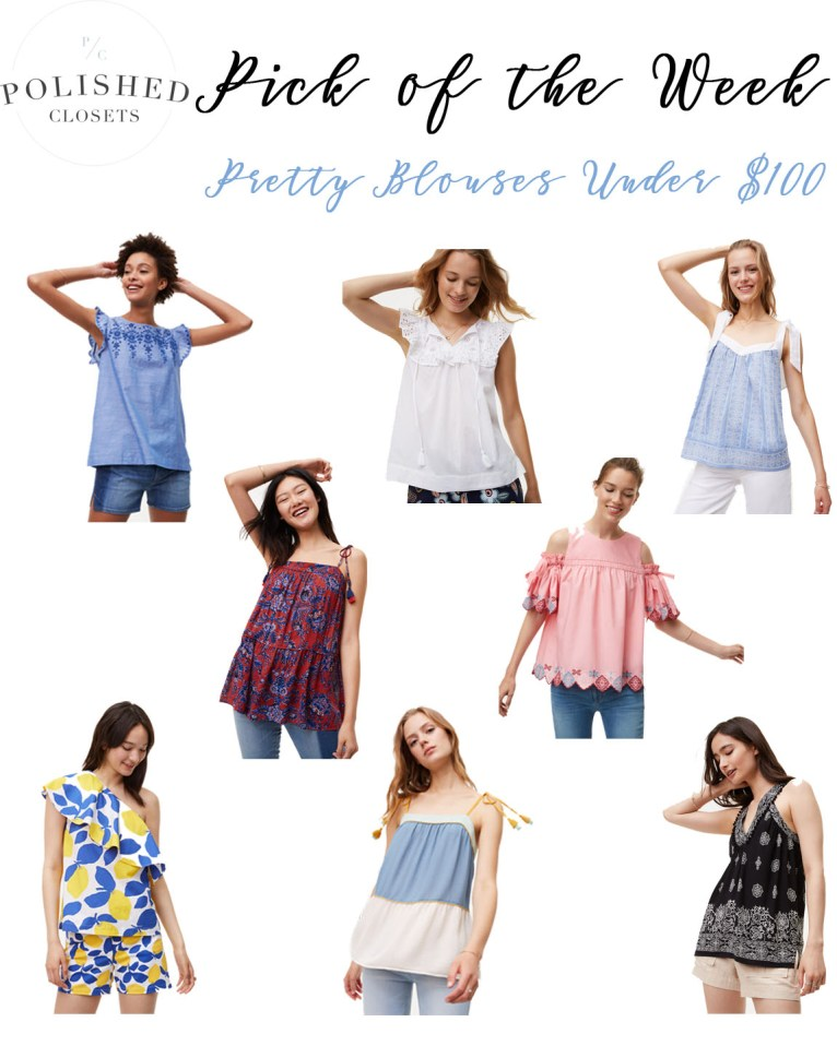 Pretty Summer Blouses Under $100 by Fashion Blogger Maggie Kern of Polished Closets