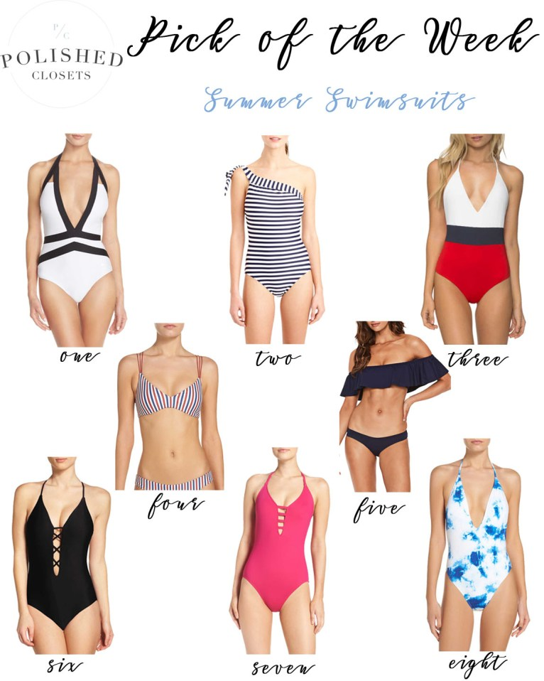 Cute Summer Swimsuits under $130 by Fashion blogger Maggie of Polished Closets