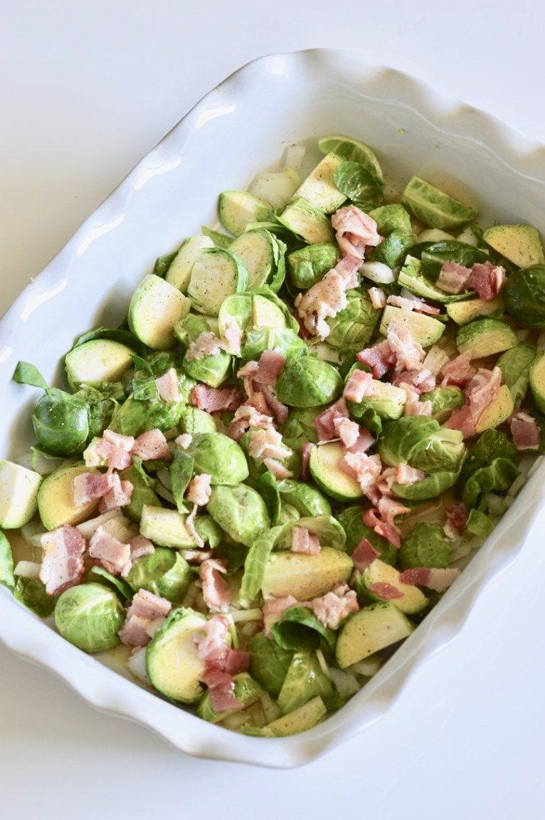 A Simple and Easy Maple Roasted Brussels Sprouts Recipe by Lifestyle Blogger Maggie Kern of Polished Closets
