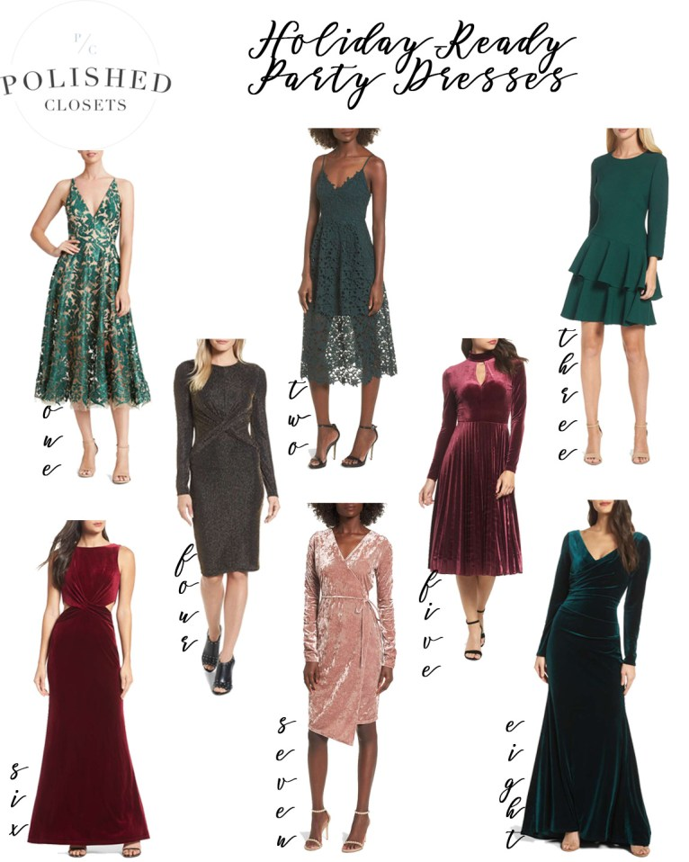 The Best Holiday Dresses for an ultra chic look styled by Fashion Blogger Maggie Kern of Polished Closets.