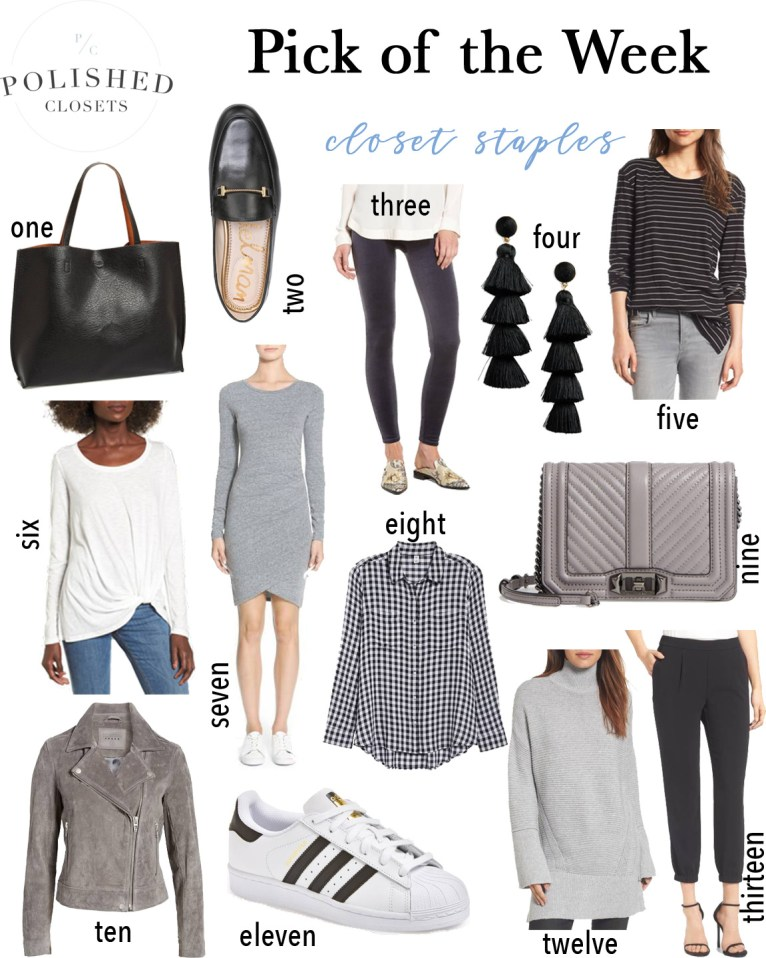 A roundup of the perfect closet staples you need in your closet! by fashion and lifestyle blogger Maggie Kern of Polished Closets.