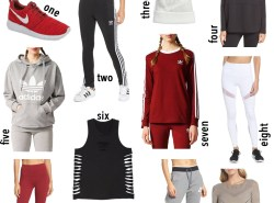 The best workout gear to get in shape for 2018 by fashion blogger Maggie Kern of Polished Closets.