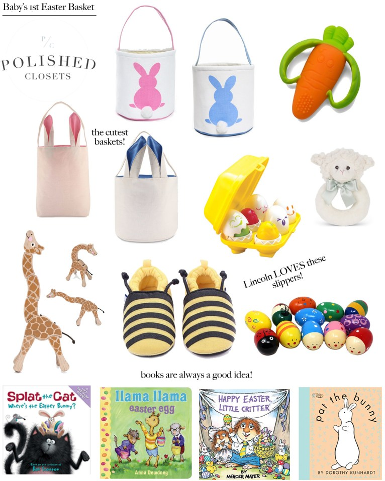 Lincolns first easter basket items for your babys first easter basket lincolns first easter basket how to create your babys first easter basket negle Image collections