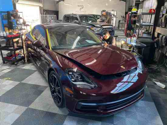 This Porsche Panamera is being detailed in our LOng Beach California shop