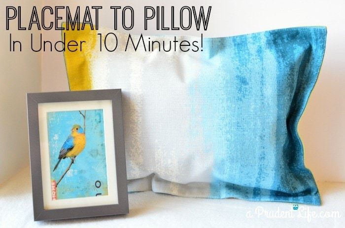 Placemats into Pillows without sewing