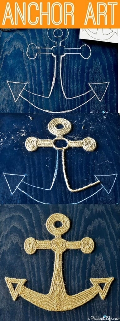 Make you own nautical art out of twine - no tools required tutorial!