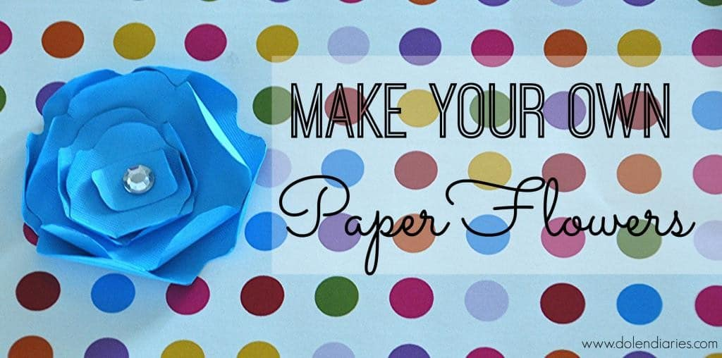 Make your own paper flowers in minutes!