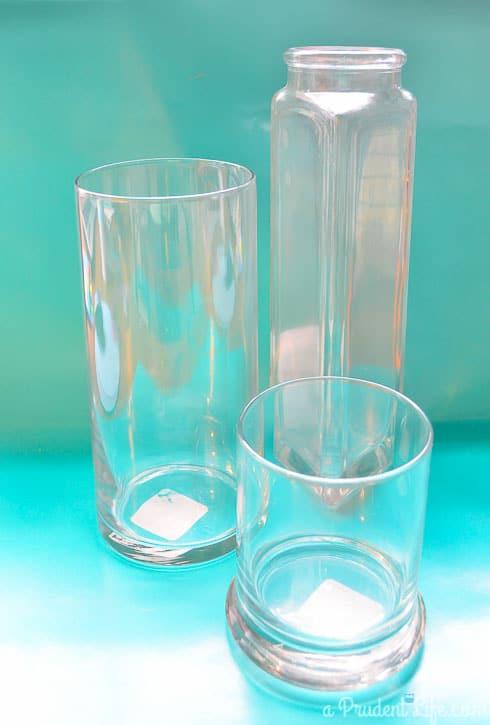 Before: Three $1 Vases