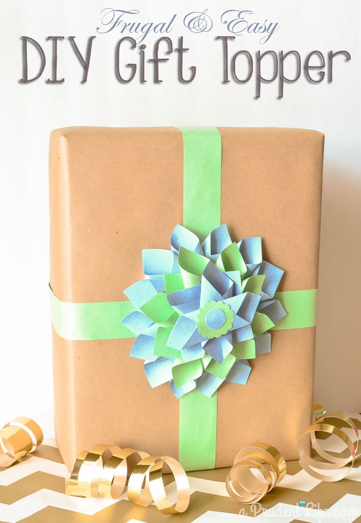 Paper Dahlia DIY Gift Topper Made with Dollar Tree Materials #ad #ValueSeekersClub
