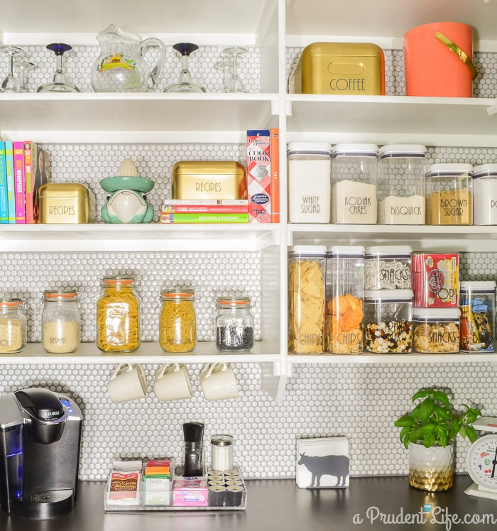 A Prudent Life's Organized Pantry Reveal