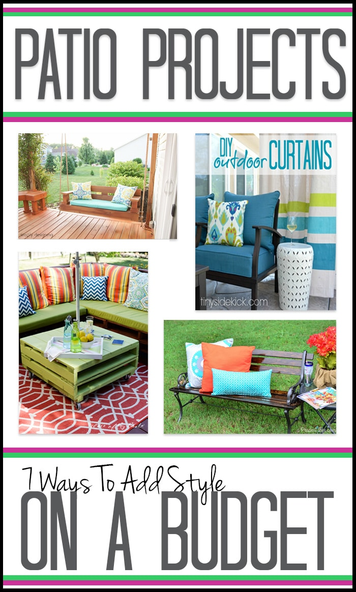 Patio Projects - 7 Ways to Add Style on a Budget ... on Patio Cover Ideas On A Budget id=47933