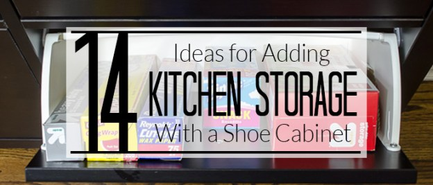 14 ways to use an ikea shoe cabinet for extra kitchen storage