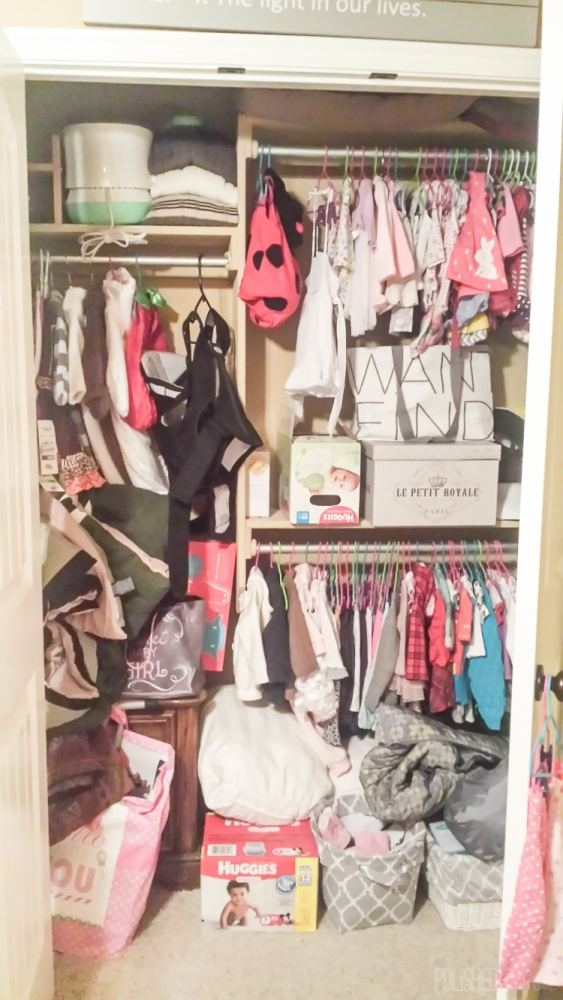 Baby's closet before makeover