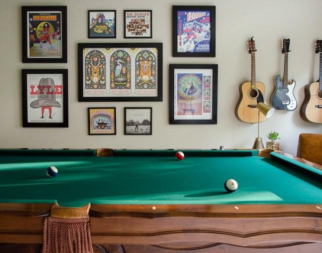 Rec Room Decor - Pool Table & Music