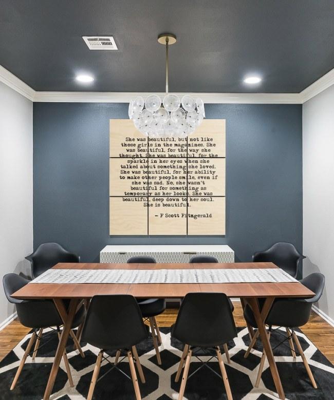 Large quote wood wall art - F. Scott Fitzgerald