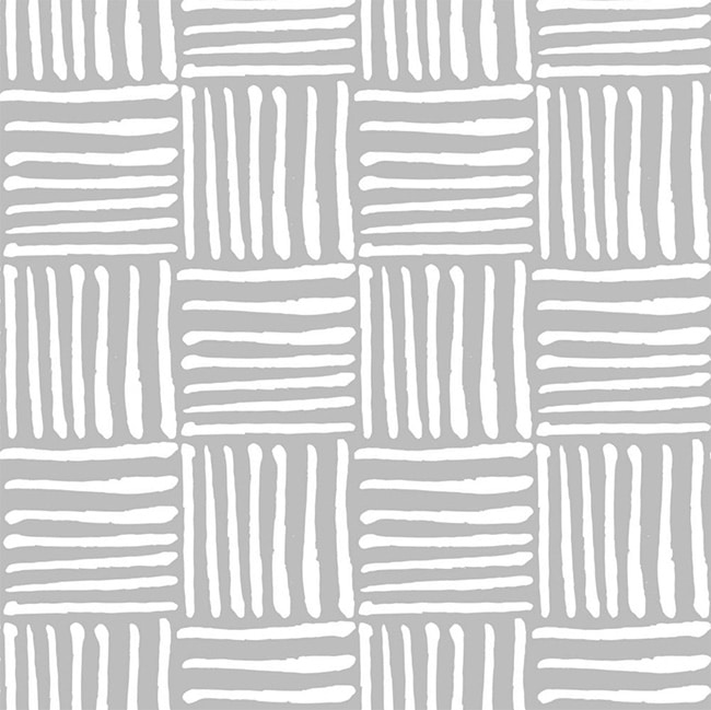 Gray and White Modern Checkerboard - Self-Adhesive