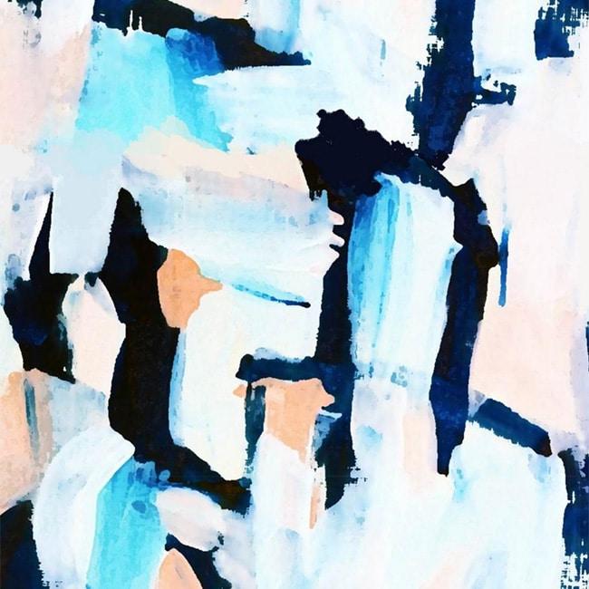 Navy and Bluesh Abstract -Self Adhesive