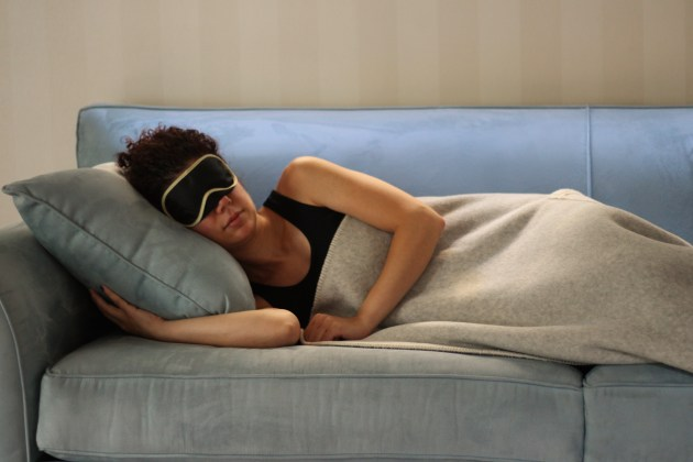 sleeping mask woman
