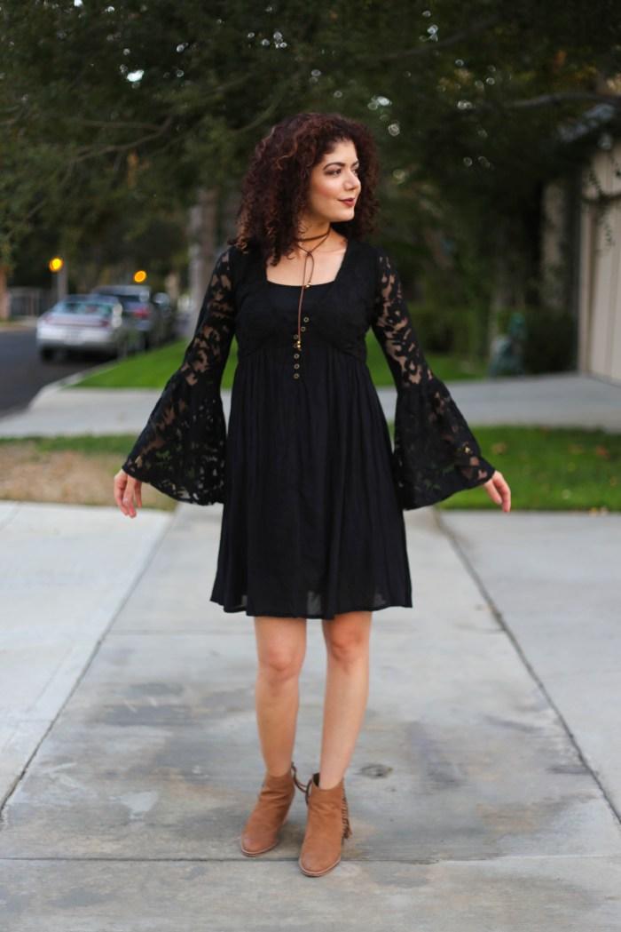 90s fashion trends lace babydoll dress and choker