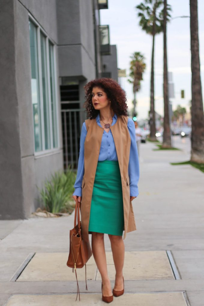 color blocking j crew catalog inspired outfit