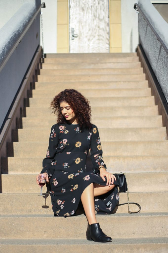 Polished whimsy's city weekend getaway outfits for wine tasting in Napa valley