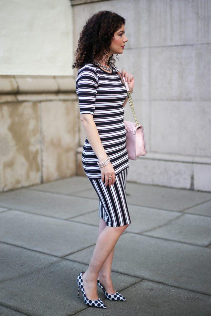 polished whimsy in striped lu la roe julia
