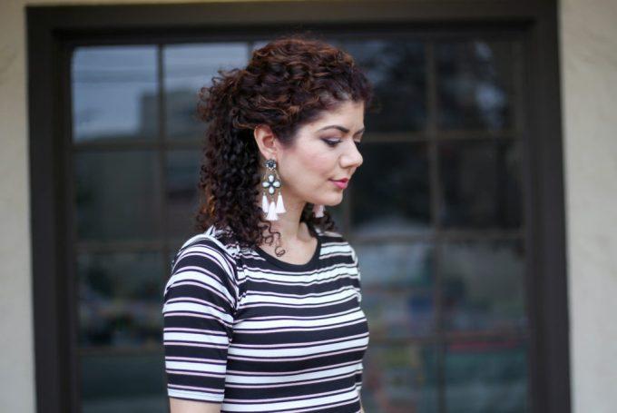 lu la roe julia and Baublebar linette earrings