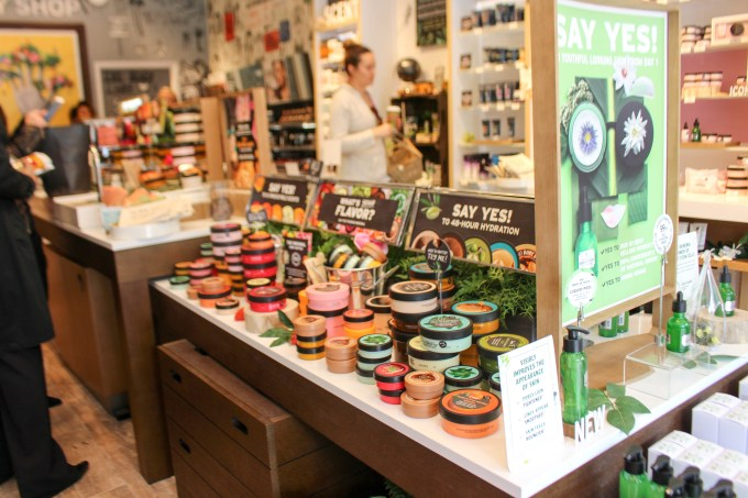 The body butters from The Body Shop