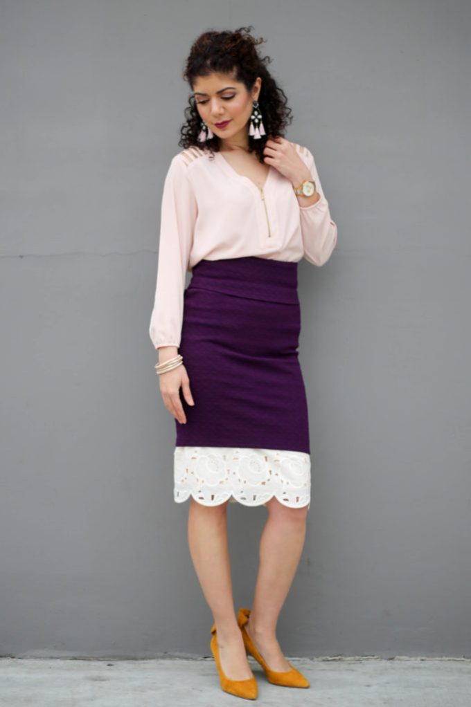 Lu la roe cassie skirt layered over a lace skirt