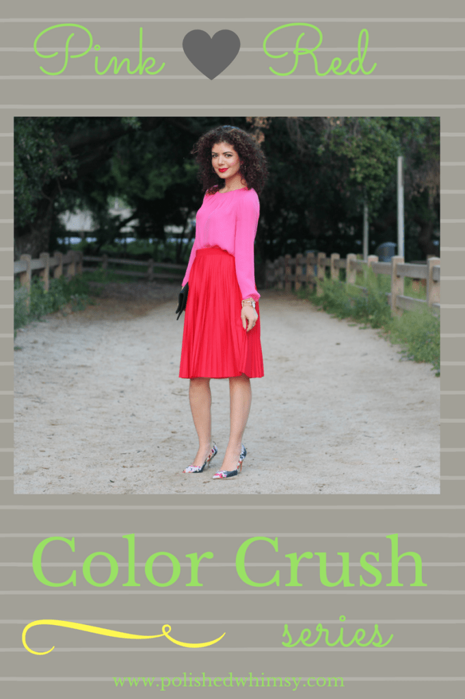 How To Put Together A Cohesive Pink And Red Outfit