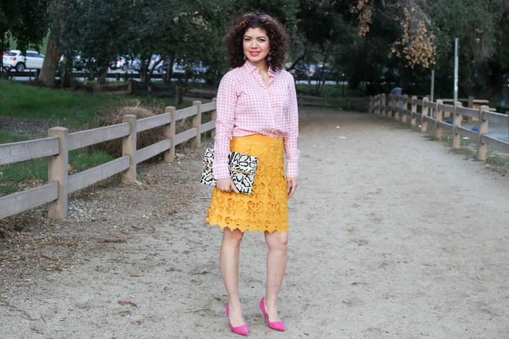 Mustard And Pink A New And Eye Catching Outfit Color Combination