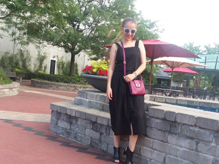 Target button up eyelet skirt | black eyelet | summer skirt | summer style | summer outfit | skirtmas in July | polished whimsy | pattern mixing and colorful style blog | casual look | fashion | style | outfit | midi skirt | skirt girl | how to style skirts | wear skirts everywhere