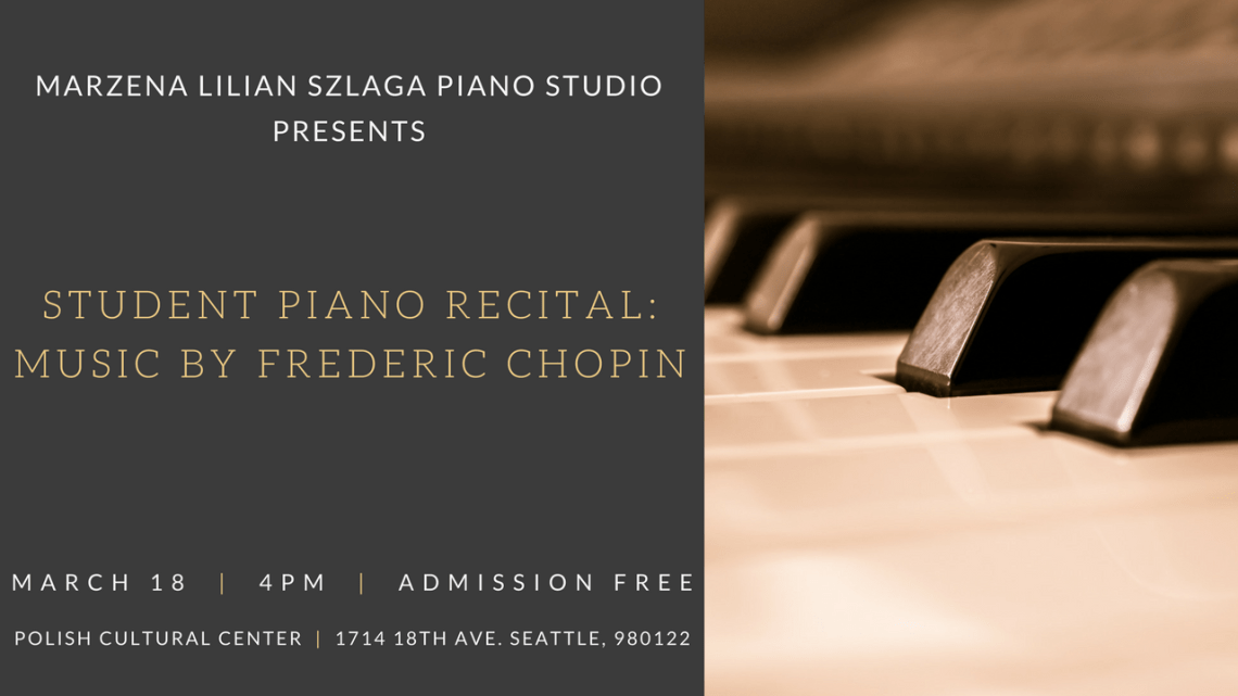 Student Piano Recital: Music by Frederic Chopin