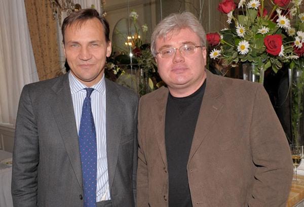 Radosław Sikorski, Minister Spraw Zagranicznych  RP z autorem zdjęć Jurkiem Pasternakiem