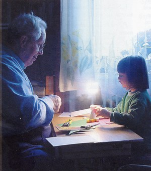 Picture of a child and a grandfather