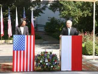 Condoleezza Rice and Lech Kaczyński