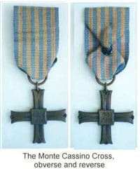 The Monte Cassino Cross - obverse and reverse