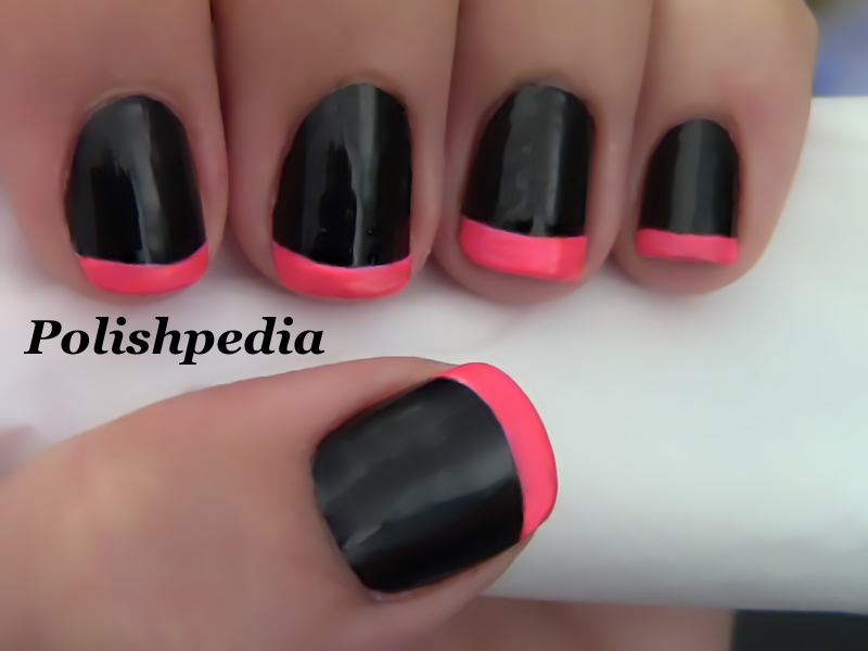 Hot Pink Nail Design Neon French Tip Nails
