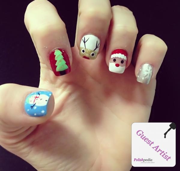 Christmas Character Nails