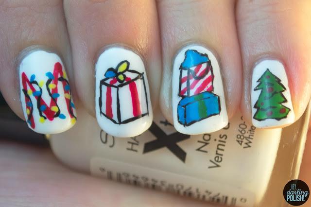 nails, nail art, nail polish, the maine, ...and a happy new year, hey darling polish,
