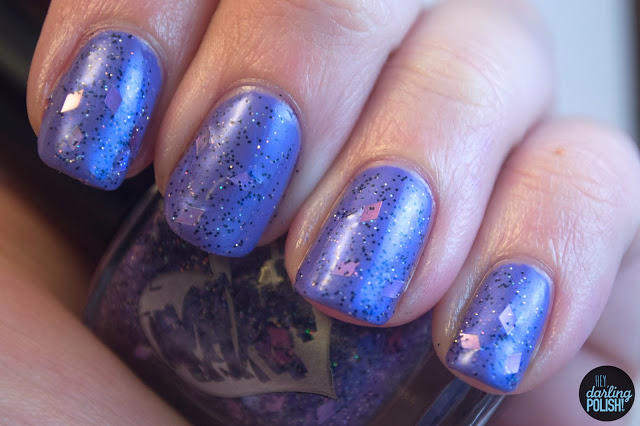 nails, nail polish, indie, indie polish, hey darling polish, cascade polish, halloween, purple, diamonds, howl