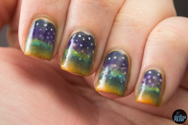 nails, nail art, polish, nail polish, night sky, nail art a go go, hey darling polish